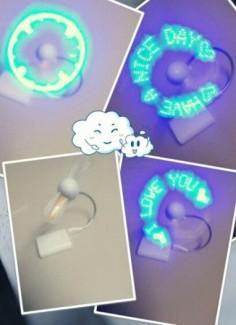 Quạt đèn LED với đầu cắm USB