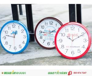 Đồng Hồ Treo Tường In Logo Quảng Cáo - Quà Tặng Khách Hàng !!!
