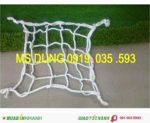 Lưới hứng rơi công trình xây dựng cao tầng, lưới bao lan can hành lang, dù trắng