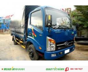 Xe tải veam 2 tấn 4 xe vào thành phố-xe veam vt252 2t5 động cơ hyundai thùng dài 4m1