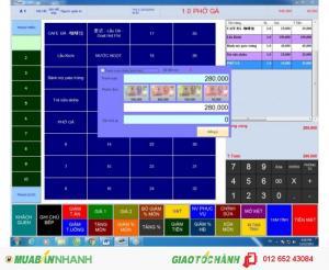 Phần mềm quản lý dùng cho quán cafe, nhà hàng