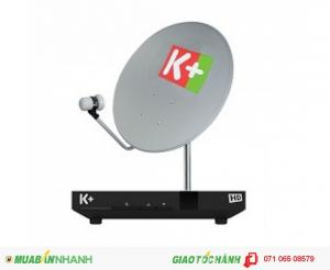 Bộ Thiết Bị k+ bao gồm: đầu thu K+ HD, bộ chảo thu, LNB, 20m dây cáp tín hiệu