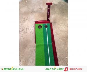 Bộ putting gỗ, thảm gạt golf mini trong nhà