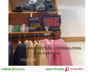 Kẹp bảng giá,  kẹp shop quần áo, kẹp cho cửa hàng thời trang, wobbler bảng giá