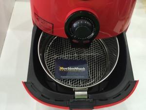 - Giới hạn vùng nhiệt độ ở mức 200 độ C, với cảm biến nhiệt thông minh giúp điều chỉnh nhiệt độ phù hợp với từng gian đoạn chiên nướng, giảm thiểu sự biến đổi các chất hóa học cacbon khi ăn đồ chiên nướng