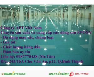 Bán sơn epoxy gốc nước - Bề mặt phẳng, cứng, chịu lực cao - Công ty APT Việt Nam