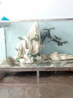 Hòn non bộ _  khách cực đẹp trang trí cho hồ cá kiểng