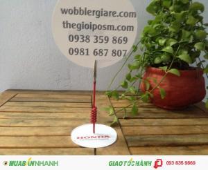 Wobbler để bàn in logo, wobbler quảng cáo in logo, in logo chân đế