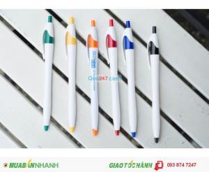 Bút bi quà tặng quảng cáo giá rẻ in logo tên công ty số luợng lớn giá cực kì hấp dẫn