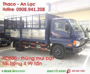 xe tải hyundai 5 tấn thùng mui bạt 5 bửng