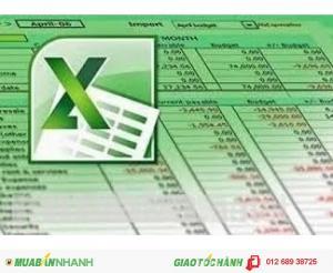 Dạy kèm Excel chuyên ngành Kế toán