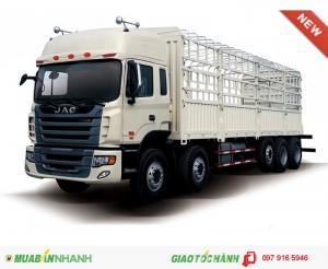 XE tải thùng JAC 10x4 - Động cơ: WP.340E32 , công suất 340 HP  - Cabin: Đầu thấp 1 dường nằm ghế hơi -cầu láp 4.11 - tải trọng: 21900 kg - hộp số : 12 số tiến 2 số lùi - năm sản xuất : 2016