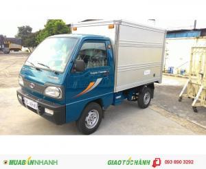 Thaco Towner 750A tải trọng 750kg đóng thùng theo yêu cầu, bán trả góp, được lưu thông vào thành phố