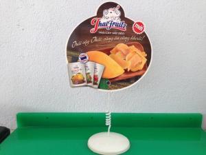 Lò xo quảng cáo, lò xo bọc nhựa để bàn, kẹp lò xo hai đầu, lo xo inox