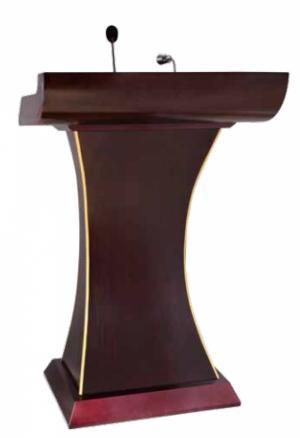 Buc phat bieu Mã sản phẩm: H7P4T3L4 - HOSPITALITY Kích thước: L805 x W500 x H1200 mm Chất liệu: gỗ, có mic – có đèn Xuất xứ: Hàng nhập khẩu