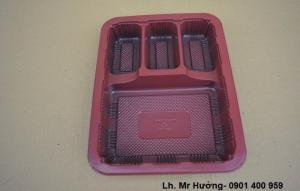 Hộp kim chi- Hộp nhựa 4 ngăn- Hộp nhựa dùng một lần an toàn