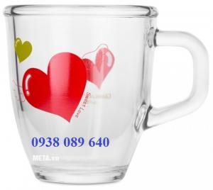 Ly chén thủy tinh in logo doanh nghiệp giá rẻ