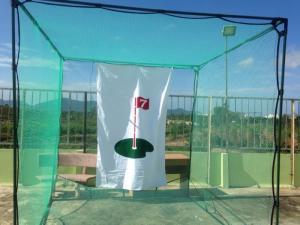 Combo khung lưới golf + tâm + thảm phát bóng golf