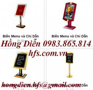 Biển menu, biển thực đơn , biển welcome đón khách,