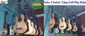 Đàn ukulele soprano gỗ tốt giảm giá dịp năm học mới