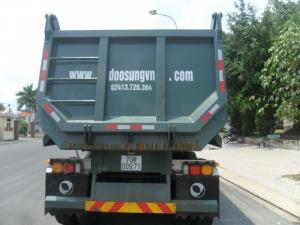 Rơ moóc 24 khối tải trọng 29 tấn thùng moóc ben của Doosung