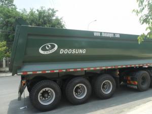 Sơ Mi rơ Mooc Xương 3 trục 40 Feet tải trọng: 33.5 tấn