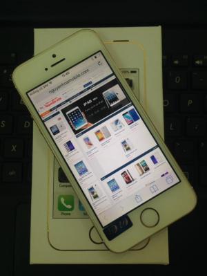 iPhone 5S 16Gb Gold Quốc tế Zin Nguyên Bản Đẹp 99% (Đã qua sử dụng) Full Phụ Kiện, Tặng Cường lực + Ốp lưng