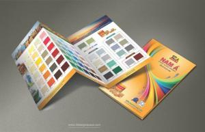 In bảng màu sơn - Quạt màu sơn - Ấn phẩm quảng cáo
