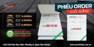 thiết kế với những nội dung thiết yếu tiện dụng cho bạn ghi chú thực đơn của khách