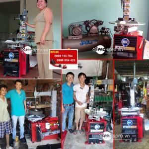 Giá máy vá vỏ xe không ruột dành cho tiệm sửa xe, head và giả head