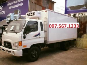 Xe tải hyundai hd72 3,5 tấn đông lạnh.