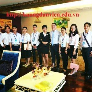 Mở lớp đào tạo nghiệp vụ lễ tân nhà hàng khách sạn, cấp chứng chỉ.