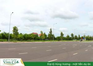 Khu Đô Thị Ven Sông Vàm Cỏ. MT đường Hùng...