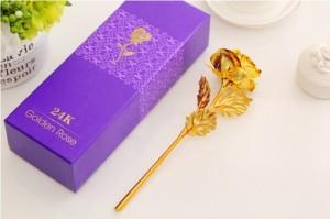 Hoa Hồng 3D Mạ Vàng đẹp tinh xảo đến từng chi tiết