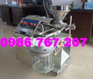 Máy ép dầu 6YL-30 (15-20kg/giờ), máy ép dầu kinh doanh có bình lọc dầu giá cực rẻ