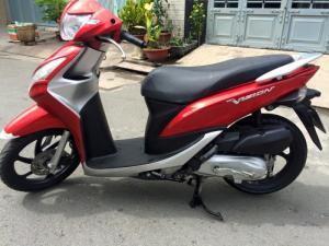 Honda Vision FI 2k13, màu đỏ, xe mới như xe...