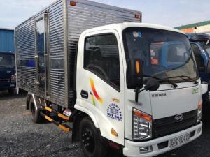 Xe tải veam vt252 2 tấn 4 - xe chạy vào thành phố - xe tải veam 2t4 xe thùng kín - bạc - giao xe ngay