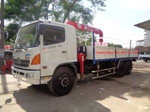Xe tải Hino 3 chân FL8JTSA gắn cẩu 3 tấn 4...