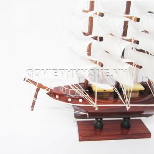 Mô hình thuyền gỗ cẩm 25cm (Gỗ Tự Nhiên)