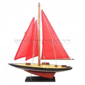 Mô Hình Du Thuyền 1 Cột Buồm 30cm (Đỏ)