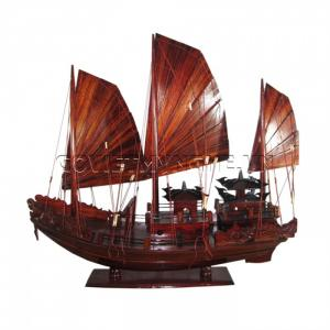 Mô Hình Thuyền Hạ Long Rồng (Thân 60cm - Gỗ Tràm)