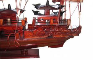 Mô Hình Thuyền Hạ Long Rồng 60cm (Gỗ Tự Nhiên)