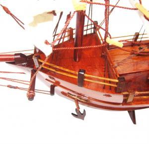 Mô Hình Thuyền Thái Lan 40cm (Gỗ Hương - Buồm Vải)