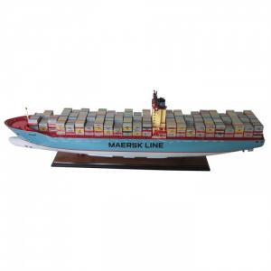 Mô Hình Tàu Container Emma Mærsk 94cm (Gỗ Tự Nhiên)