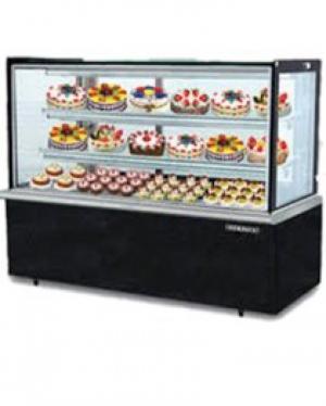 Tủ trưng bày bánh lạnh BERJAYA (MALAYSIA) kính vuông màu đen