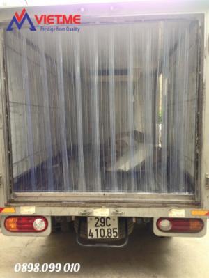 Màn nhựa PVC ngăn lạnh trên xe chở thực phẩm đông lạnh