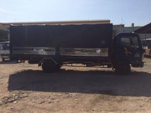 Bán xe tải Hyundai 2 tấn mới 100%, thùng dài 6.1 mét, tổng tải trọng dưới 5 tấn, luu thông đường Sài Gòn