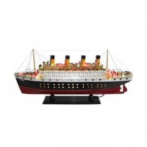 Thuyền Titanic - Đèn LED 60cm(Gỗ Tự Nhiên)