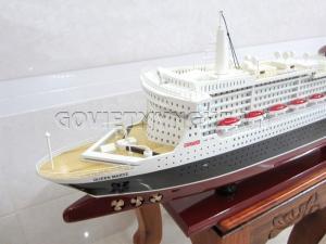 Mô Hình Gỗ Du Thuyền RMS Queen Mary II 80cm (Gỗ), Dài 81 x Rộng 13 x Cao 29(cm), Giá - 2.350.000₫.