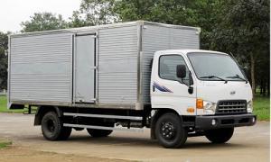Xe tải hyundai hd800  8 tấn - xe thùng kín bạc giao xe ngay